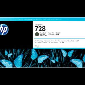 HP 728 Mat zwart inkt cartridge 300 ml