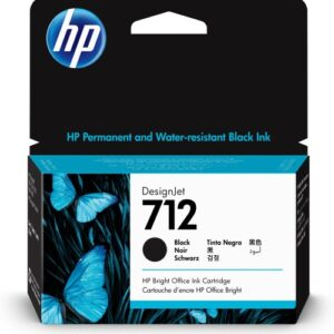 HP 712 zwart inkt cartridge 38 ml